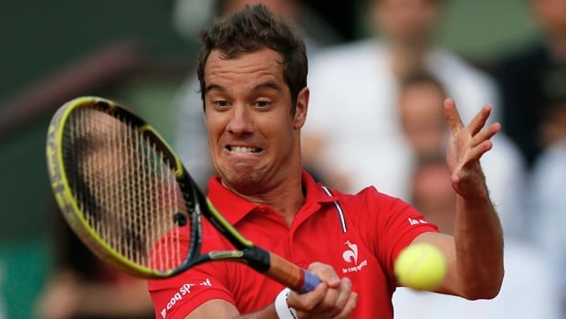 Richard Gasquet was upset 6-4, 6-4 by Robin Haase in the first round of the Gerry Weber Open in Halle, Germany, on Tuesday.