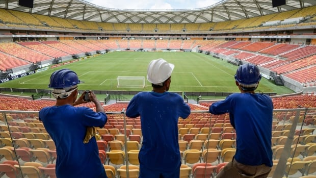 Manaus's massive new soccer stadium cost $318 million to build and is only going to be used to host four of Brazil's World Cup games.