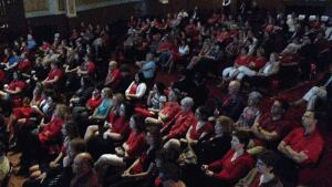 Capitol Theatre was filled to near capacity for the RCMP funeral on Tuesday
