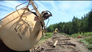 Train derailment in Pictou County