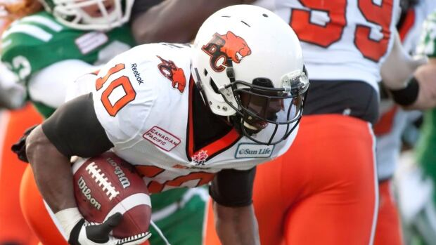 BC Lions running back Stefan Logan is shown during last year's West semifinal, having rejoined the team after a stint in the NFL.
