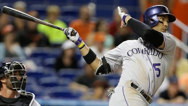 Rockies outfielder Carlos Gonzalez had a small tumour removed from his left index finger Tuesday during a procedure at the Cleveland Clinic. He is expected to be out of the lineup a few weeks.
