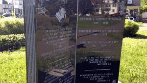 Moncton police memorial in Victoria Park
