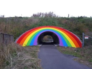 Toronto's rainbow tunnel