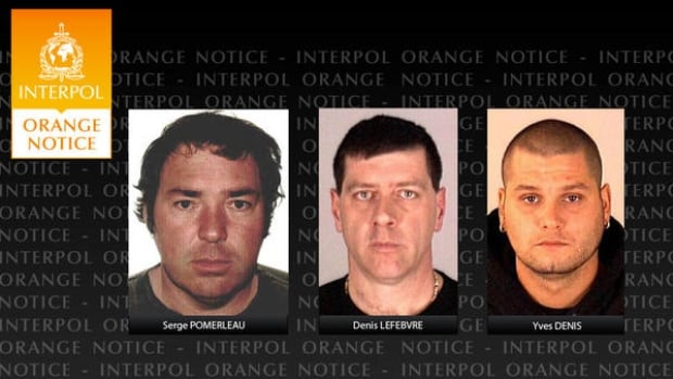 At the request of Canada, Interpol issued an international alert for the three men who escaped the Quebec detention centre Saturday.