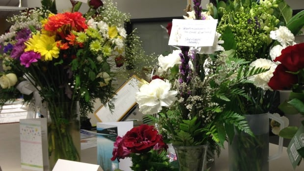 The RCMP detachments in Red Deer have been receiving flowers and messages of support from the public since 3 officers were killed in New Brunswick.