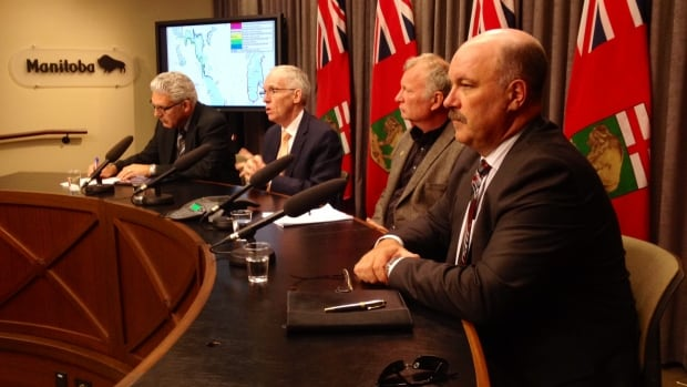 Provincial officials gathered to provide an updated flood forecast on Wednesday afternoon.