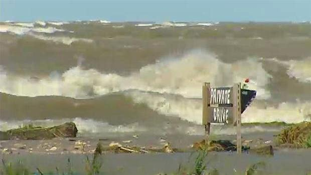 Windstorms created violent waves and slammed them into the homes and cottages along Lake Manitoba in 2011. The province issued a wind warning for the south basins of both Lake Manitoba and Lake Winnipeg Thursday.