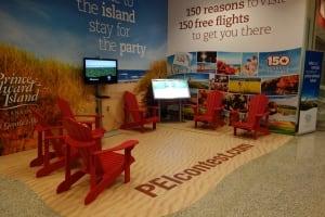 P.E.I beach set up at Pearson airport