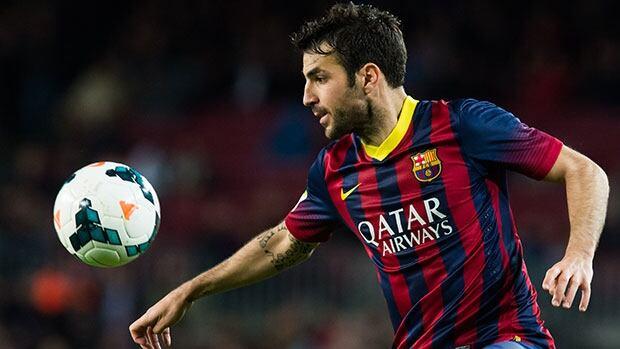 Cesc Fabregas spent three seasons at Barcelona.