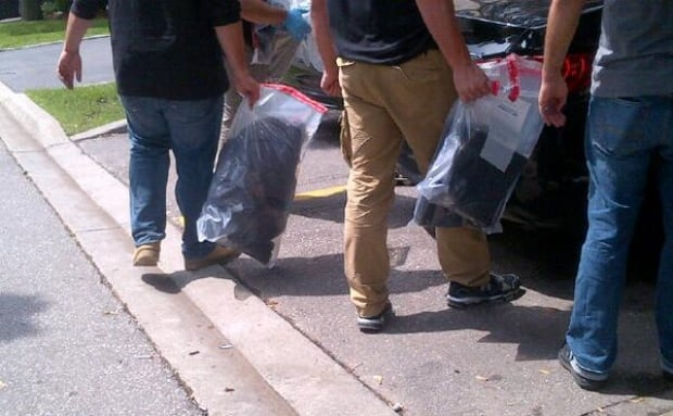 Evidence seized from North York home