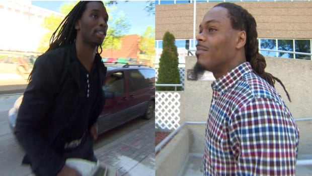 Taj Smith, left, and Dwight Anderson, right, were charged following an incident in Regina in August of 2013.
