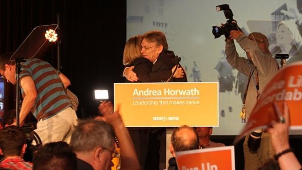 Andrea Horwath and David Christopherson