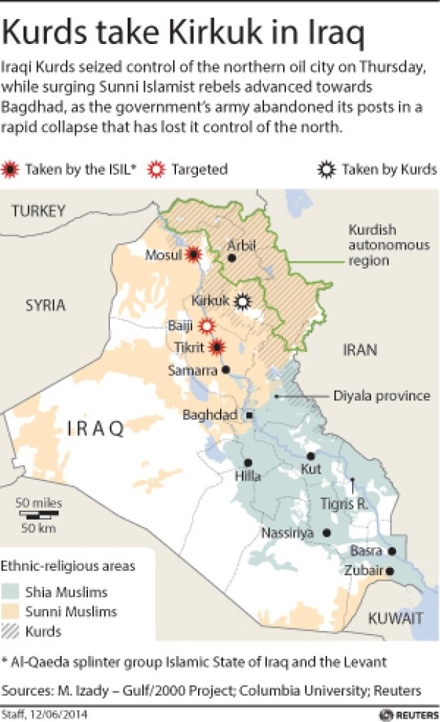 Kurds take Kirkuk in Iraq