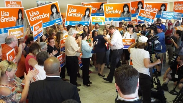 NDP candidates Lisa Gretzky, Percy Hatfield and Taras Natyshak won the trio of Windsor-Essex ridings.