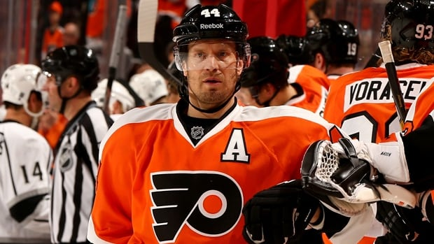 Kimmo Timonen has compiled 117 goals and 571 points with a plus-38 rating in 1,092 	NHL games with the Predators and Flyers.