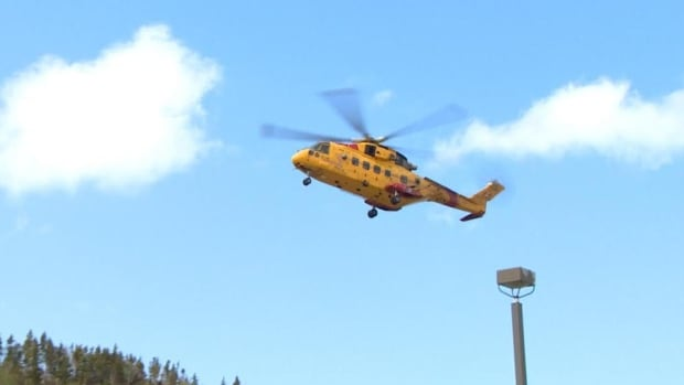 A Cormorant helicopter transported a patient from a fishing vessel off St-Pierre-Miquelon to St. John's on Friday.