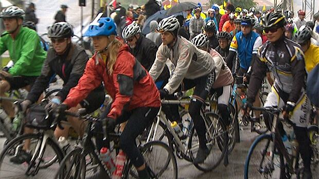 Organizers of the 6th annual Ride to Conquer Cancer announced the annual event  had already raised $9 million. Cylcists left the Cloverdale fairgrounds at 7 a.m.PT on a 200 km ride to Seattle.