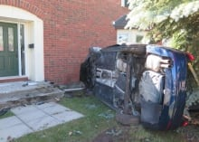 SUV crash into Kanata home (June 15, 2014)