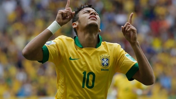 Brazil's Neymar wears the same jersey number, No. 10, as the great Pele.