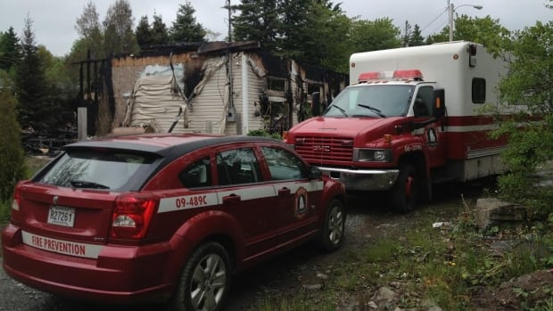 An early-morning fire destroyed a home in East Preston on Sunday, but no one was hurt.