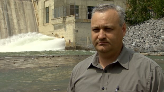 John Jagorinec, the manager of water treatment in Calgary, says the Glenmore Dam is sound and ready for any future flooding.