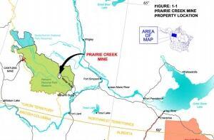Canadian Zinc's Prairie Creek Mine road
