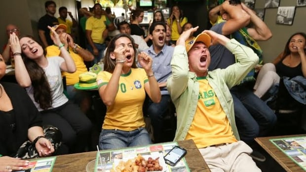 Fans of Brazil were at the Brazilian Star Bar & Grill mid-afternoon on a weekday.