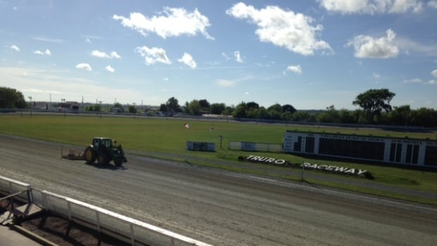 The Truro Raceway sits on the 26-hectare exhibition site. It's an 800-metre track with a huge infield.