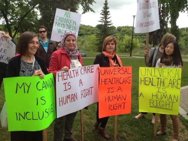 saskatoon refugee health protest