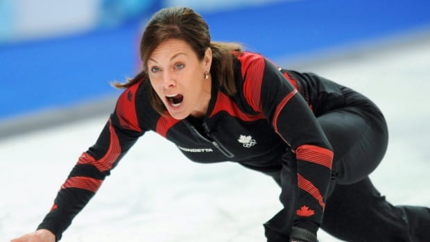 Cheryl Bernard is shown in competition at the 2010 Vancouver Games.