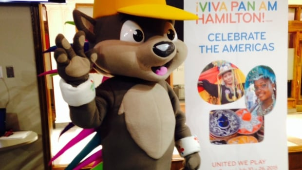 Pachi, the Pan Am Games mascot, had his needles fixed.