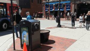 Uptown Saint John is piloting three BigBelly solar trash compactors