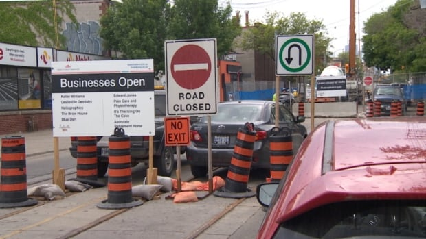 The intersection of Queen Street East and Leslie Street been closed for the last six weeks to put in new streetcar tracks and replace an 80-year-old water main. The intersection is due to reopen on Sunday.
