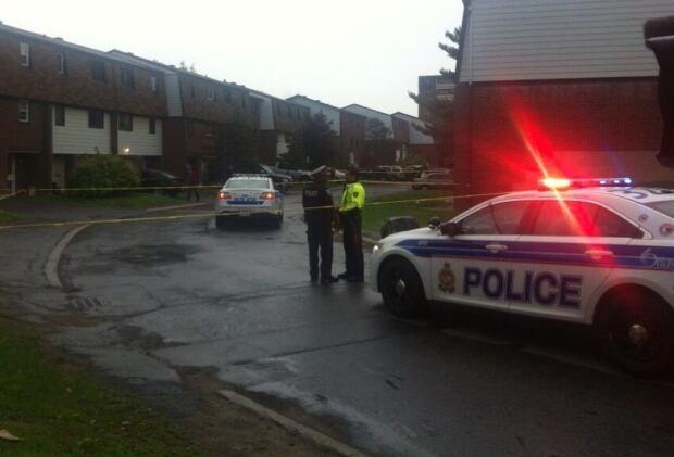 Cedarwood Drive shooting June 17 2014 police car