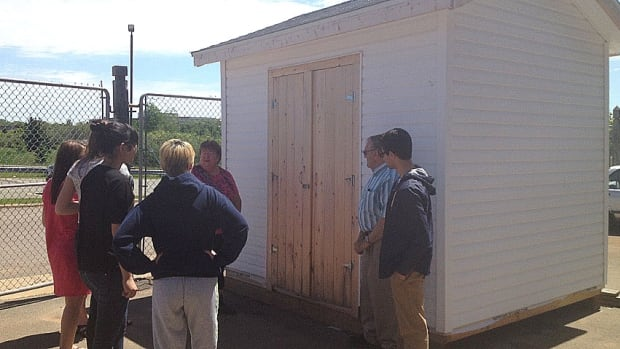 The IB class at Charlottetown Rural has built a new shed for Camp Keir to replace one destroyed by vandals.