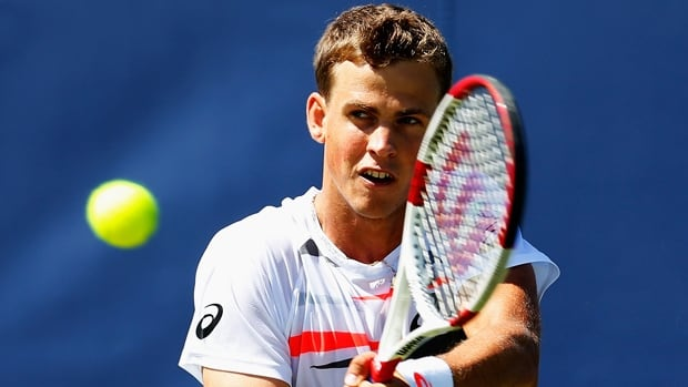 Vasek Pospisil of Vernon, B.C., won 6-4, 6-2 over Jan-Lenard Struff in the second round of the Topshelf Open on Wednesday.