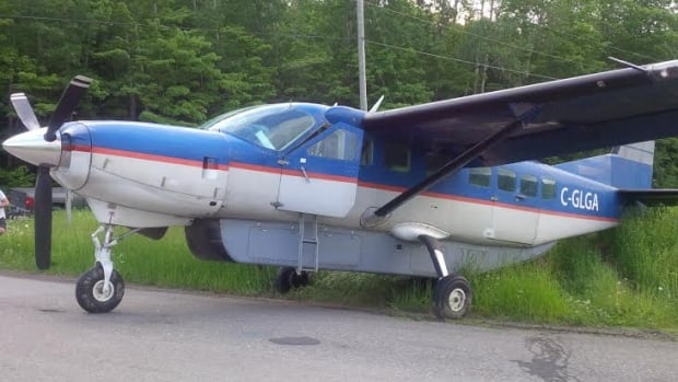 The Cessna Caravan mail plane made an emergency landing in New Denmark, N.B.