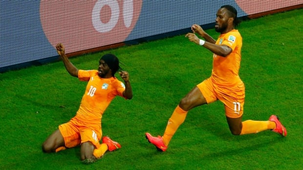Didier Drogba, right, will be an important factor for the Ivory Coast as it tries to secure a spot in the Round of 16.