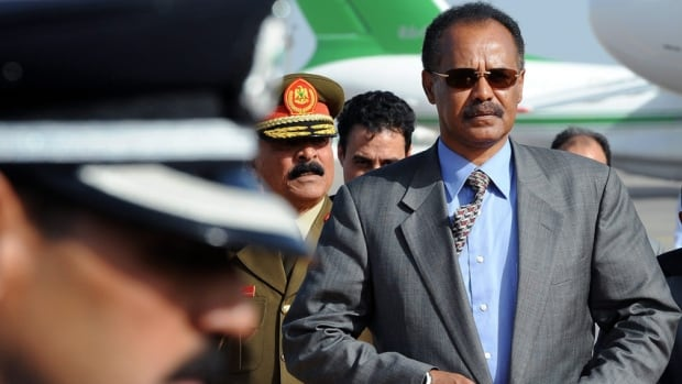 Eritrean President Isaias Afwerki, seen here in a photo from 2010, has been criticized for operating a repressive regime. Canadian government officials are concerned about a controversial 'tax' the African country is levying on Eritrean-Canadians.
