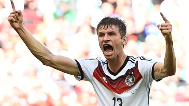Thomas Muller scored a hat trick for Germany in their dominant opening win over Portugal.