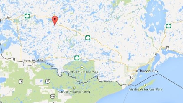 Lost Lake is located about 330 km northwest of Thunder Bay.