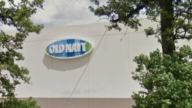 A woman looked up from her change room to see someone recording her Tuesday at the Old Navy store in St. Vital.