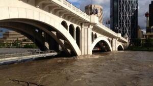 Centre St. bridge flooding
