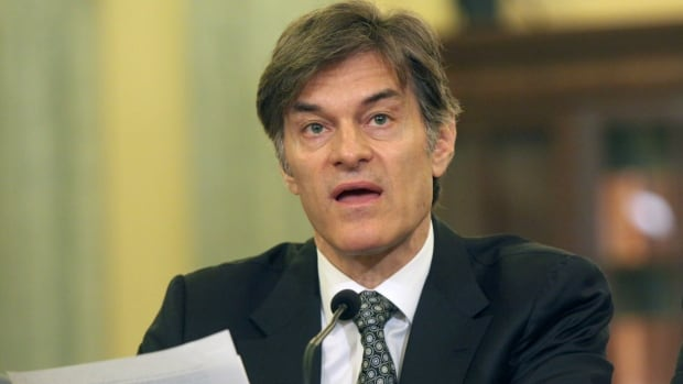 Dr. Oz is shown testifying on Capitol Hill in Washington over his endorsement of weight-loss products.