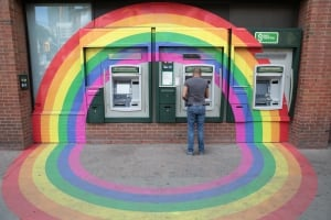 Toronto Church Street rainbow ATM