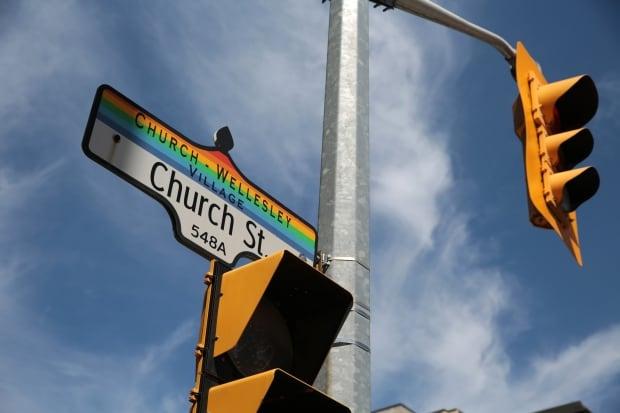 Toronto gay village sign