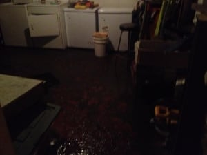 Flooded basement Brandon