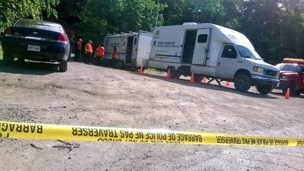 Fredericton police and a search and rescue team combed through Odell Park Saturday morning.