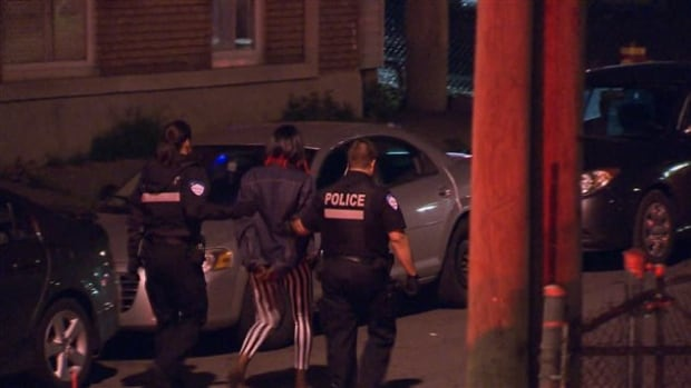 Several branches of law enforcement were involved in the police operation, including a tactical intervention unit, an anti-gang squad, a K-9 unit and Canada Border Services.